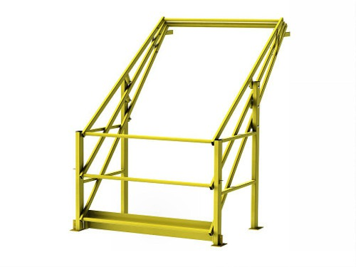 Pallet lay-out with tilt gate